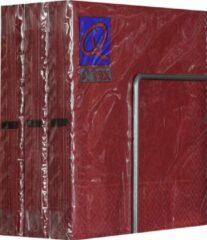 Bordeauxrode Merkloos / Sans marque Servetten - Papier - Set van zes pakjes - 6 x 20 stuks- Cirkels Bordeaux - 33cm x 33cm