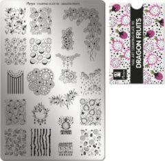Moyra Nail Art Stamping Plate 90 - Dragon Fruits