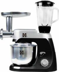 Herzberg Multifunctionele Keukenmachine - 5L Inhoud - RVS - Zwart