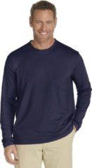 Coolibar UV shirt Longsleeve Heren - Donkerblauw - Maat XL