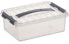 Grijze Sunware Opbergbox 4 TR - 300 mm x 200 mm x 100 mm - 4L - Transparant
