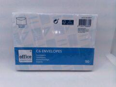 Witte Office Enveloppen C6 - 50 Stuks - 80 grams - 114 x 162 mm