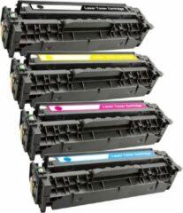 Cyane Toner MediaHolland Huismerk 305X, 305A Set 4 kleuren CE410X, CE411A, CE412A, CE413A