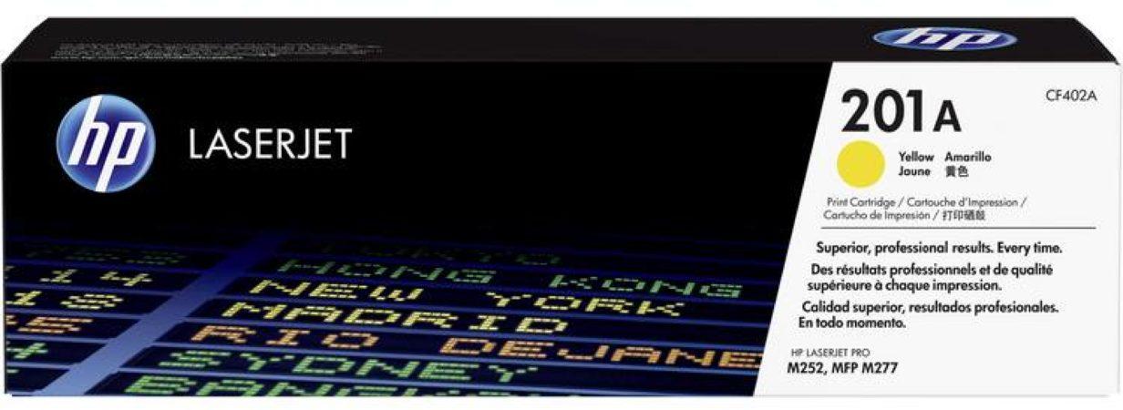 Afbeelding van HP 201A CF402A Tonercassette Geel 1400 bladzijden Origineel Tonercassette