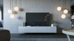 Maxima House VIGO I Zwevend TV Meubel - TV Meubel Hoogglans Wit / Wit- TV Kast Meubel - Modern Design - 30x180x40 cm