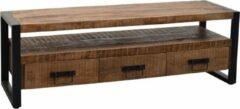 Bruine BELFURN Fineliving - Tv meubel Sohoto - Massief mango hout 150 cm