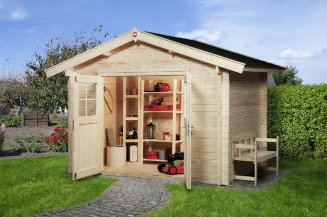 Afbeelding van Weka tuinhuis Premium28 met luifel 60cm Gr.5 11,4m²