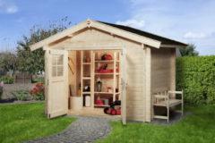 Weka tuinhuis Premium28 met luifel 60cm Gr.5 11,4m²