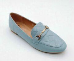 Merkloos / Sans marque Loafers | blauw | maat 37