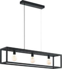 Zwarte EGLO Vintage Elswick - Hanglamp - 3 Lichts - Zwart