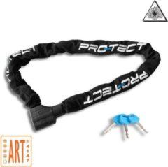 Pro-Tect ART4 Kettingslot | 10.5mm x 120cm | Gehard staal | Premium Kwalitet | 3400g | Zwart | Brommerslot Scooterslot Motorslot