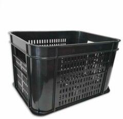Hype Fietskrat zwart kunststof 30 liter inhoud voordrager montage