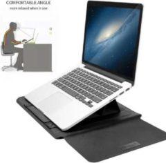 Ntech New Macbook Air 2018 13.3 Inch Sleeve 4 piece set Spatwater proof Hoes met handvat - Zwart