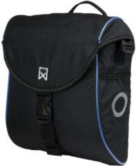 Willex 300 S Enkele Fietstas - 12 liter - Zwart/Blauw