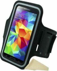 Zwarte Sportarmband Samsung Galaxy S5 hardloop sport armband