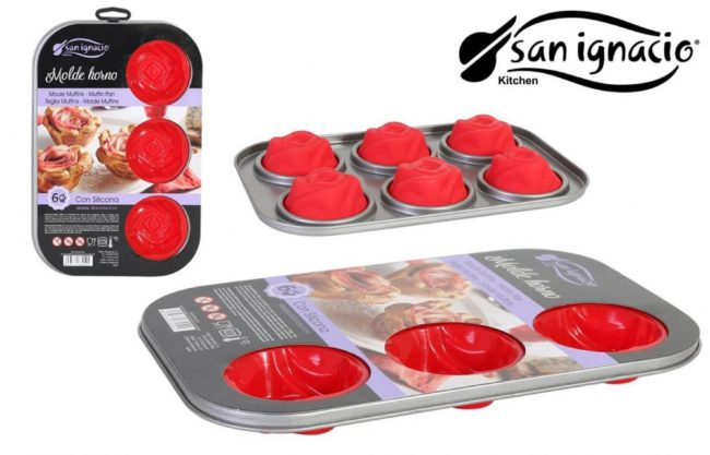 Afbeelding van Rode San ignacio siliconen leuke bakvorm set!