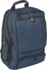 Dermata rugtas met laptopvak canvas 3489CV blauw