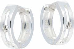 Best Basics Zilveren Oorbellen klapcreolen met zirkonia 107.0654.00