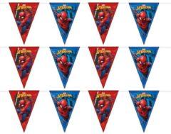 3x Marvel Spiderman vlaggenlijnen themafeest 230 cm - Kinderfeestje partijtje feestslingers