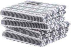 Grijze DDDDD vaatdoek Classic Clean neutral grey (30 x 30 cm) per 4 stuks