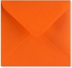 EnveloppenGigant.nl Oranje vierkante enveloppen 13 x 13 cm 100 stuks