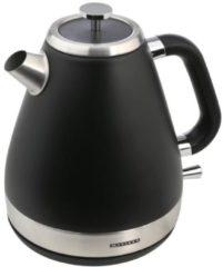 Edelstahl Wasserkocher 1,6 l Retro Design, schwarz