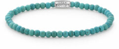 Rebel & Rose Rebel and Rose RR-40013-S Rekarmband Beads Turquoise Delight zilver-turquoise 4 mm S 16,5 cm