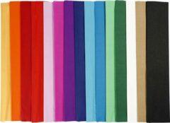 Donkergroene Crepepapier, b: 50 cm, l: 2,5 m, 60 vouw, diverse kleuren