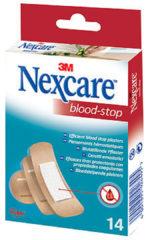 3M Nexcare™ Blood-Stop Bloedstop pleisters, huidkleurig, assortiment, 14 pleisters, N1714AS