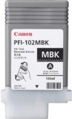 Zwarte Canon PFI-102MBK 130ml Mat Zwart inktcartridge