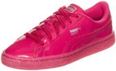 Rosa PUMA Basket Patent Iced Glitter Sneaker Kinder