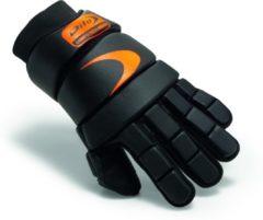 Zwarte Dita Glove ComfoTec Indoor - Fluo Red/Black - Hockeyhandschoen Unisex - 6329