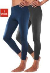 Blauwe Vivance active Basic legging in set van 2, VIVANCE
