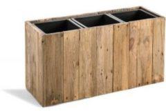Maxifleur - Marrone Box - Dark Flame Wood - Maat M - 66x25x35cm