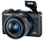 Canon EOS M100 - Digitalkamera EF-M 15-45 mm IS und 55-200 mm Objektive