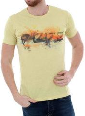 Gele T-shirt Korte Mouw Pepe jeans