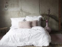 Roze Merkloos / Sans marque Fissaggio | Flamant Home Linen Chunky Blossom - Sierkussen - Blossom - 40x60cm