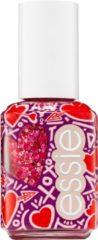 Essie Valentijnscollectie Matte Glitter Top Coat - 600 You're So Cupid Top Coat - Rood Nagellak - 13,5 ml