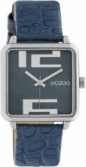 OOZOO Timepieces Horloge Croco Donker Blauw | C10366