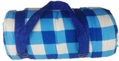 Redhart Picknickplaid GUUS - Blauw / Wit - Polyester - 150 x 200 cm