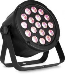 Zwarte LED PAR lamp - BeamZ SlimPar45 - Krachtige LED PAR lamp met 18x 3W LED's (RGB)