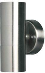 Zilveren Luxform Tuinlamp omhoog/omlaag Eden roestvrij staal 230 V