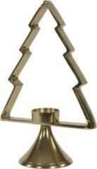 Lesliliving Kerstboom Aurum met windlicht alu goud 30cm