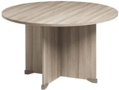 Gamillo Furniture Ronde eettafel jazz van 120 cm breed in grijs eiken
