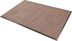 """Zandkleurige Smophy Home Wash & Clean vloerkleed / entree mat, droogloop, ook voor professioneel gebruik, kleur """"Taupe"""" machine wasbaar 30°, 150 cm x 90 cm."""