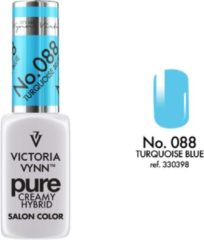 Witte VICTORIA VYNN™ Gel Nagellak - Gel Polish - Pure Creamy Hybrid - 8 ml - TurquoiseBlue - 088
