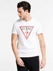 Witte T-shirt Korte Mouw Guess CN SS ORIGINAL LOGO TEE