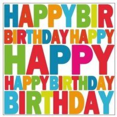 Ambiente Servetten Happy Birthday 20x Stuks - Verjaardag Feestje Thema Servetjes