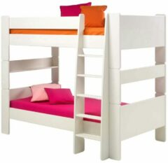 Hioshop Oliver Kids - Stapelbed - 90x200 cm - Wit - Inclusief lattenbodem