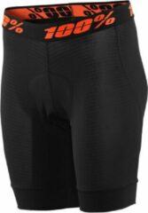 100% Dames MTB Short Crux Liner - Zwart - S